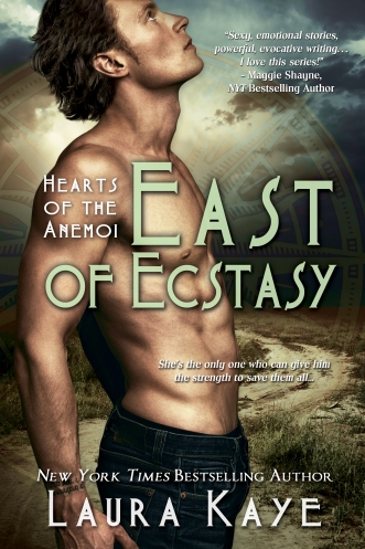 East of Ecstasy (Hearts of the Anemoi #4 - Devlin and Anna) by Laura Kaye (Entangled: Select, April 22, 2014)
