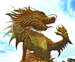 While there are many breeds of dragons in Schmidt's alternate world, the descriptions are terrifying, and probably much closer to this beautiful Thai sculpture than the dragons of fantasy literature. (Public domain image via Pixabay)