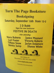 One of the benefits of Nora Roberts owning a bookstore? Awesome author signing parties!